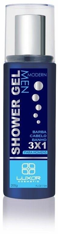 Shower Gel 200g - Modern 3x1 - Cabelo - Barba - Banho - Caixa com 6
