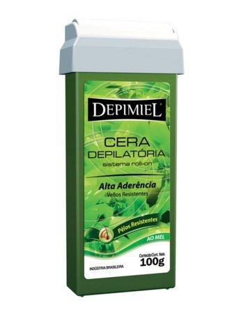 Cera Roll-on Verde Alta Aderência - Depimiel 100g caixa com 3