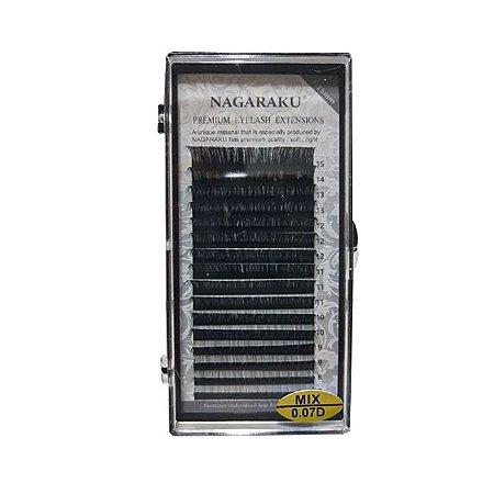 Cílios Nagaraku Fio a Fio 0.07D Mix - 3 Unidades