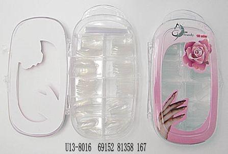 Unhas Postiças 8016 transparente Miss Frandy ( Embalagem com 3)