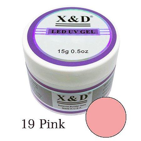 Gel X&d 19 Pink Nude Unhas De Gel Led Uv 15 g  - 3 Unidades