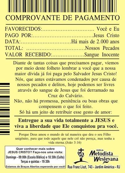 5.000 FOLHETOS EVANGELISTICOS COLORIDO FRENTE, VERSO EM BRANCO 10x14cm, papel couchê 80g - - O logotipo e os dados com endereço e horários de culto poderão ser mudados de acordo com sua Denominação!