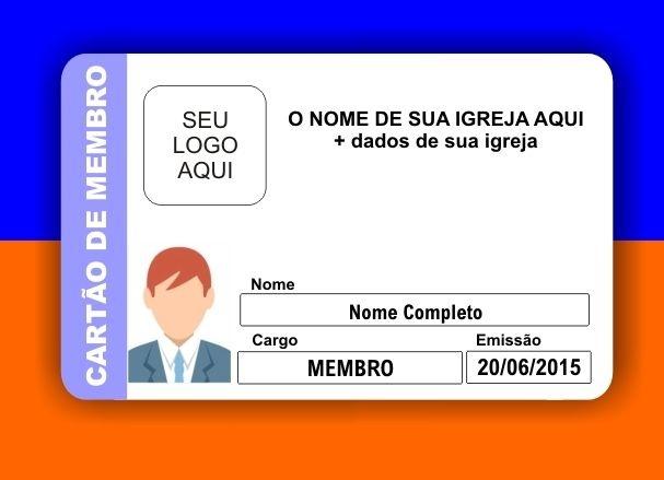 CARTÃO DE MEMBRO DENOMINAÇÕES DIVERSAS