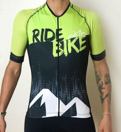 Camisa Revista Ride Bike verde