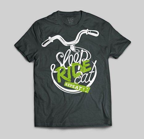 Camiseta pedalar, comer, Dormir e repetir!