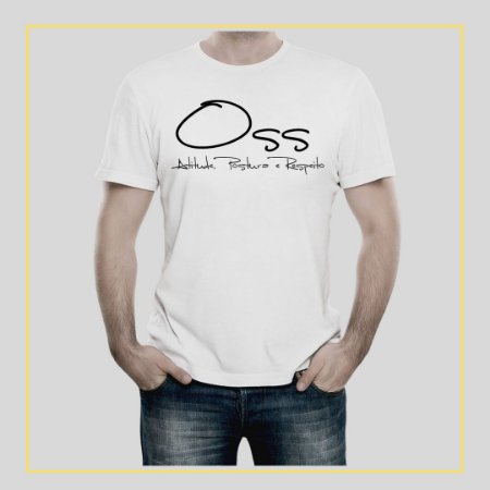 Camiseta OSS - Atitude, Postura e Respeito