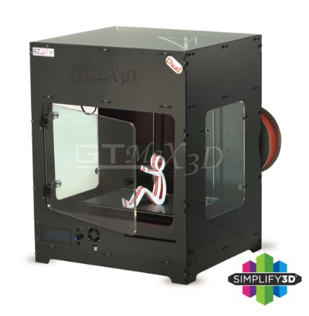 Impressora 3D Pro - GTMax3D Core A1 DUAL (2 Extrusores) + Software Simplify3D + 1 Kg de Filamento ABS