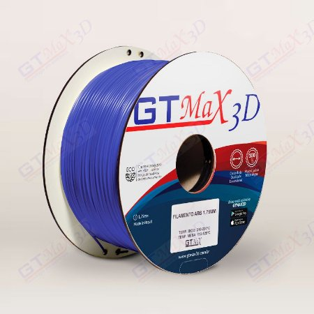 Filamento ABS Premium MG94 1.75mm GTMax3D - Azul Escuro