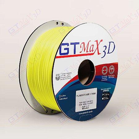 Filamento ABS Premium MG94 1.75mm GTMax3D - Amarelo Fluorescente