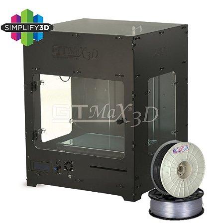Impressora 3D Pro - GTMax3D Core A1 + Software Simplify3D + 1 Kg de filamento ABS