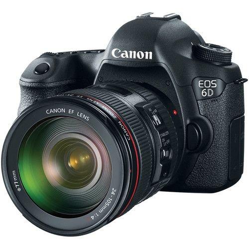 Câmera Canon EOS 6D Kit com Lente Canon EF 24-105mm f/4L IS USM