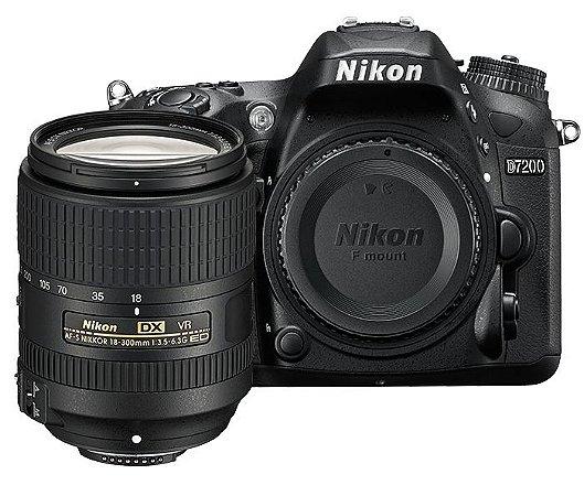 Câmera Nikon D7200 Kit com Lente Nikon AF-S DX NIKKOR 18-300mm f/3.5-6.3G ED VR