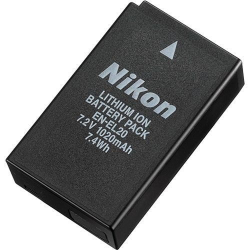 Bateria recarregável Nikon EN-EL20 para Câmeras Nikon 1 AW1 / COOLPIX A / 1 J3 / 1 J2 / 1 J1 / S1