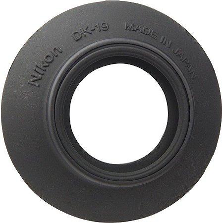 Ocular Nikon DK-19 Rubber Eyecup para câmeras Nikon D810 / D850 / D500 / D5 / D4S / D3 / D700 / Df