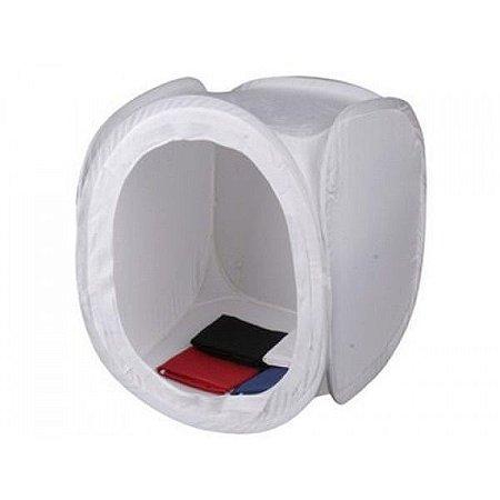 Tenda para iluminação 80 x 80cm com 04 pções de fundos (branco, preto, azul e vermelho)