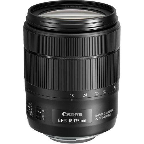 Lente Canon EF-S 18-135mm f/3.5-5.6 IS com tecnologia Nano USM caixa branca
