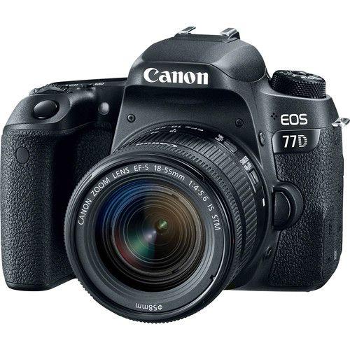 Câmera Canon EOS 77D Kit com Lente Canon EF-S 18-55mm f/4-5.6 IS STM