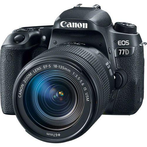 Câmera Canon EOS 77D Kit com Lente Canon EF-S 18-135mm f/3.5-5.6 IS STM