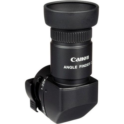Visor de ângulo reto Canon Angle Finder C com ampliação da imagem de 1.25x a 2.5x