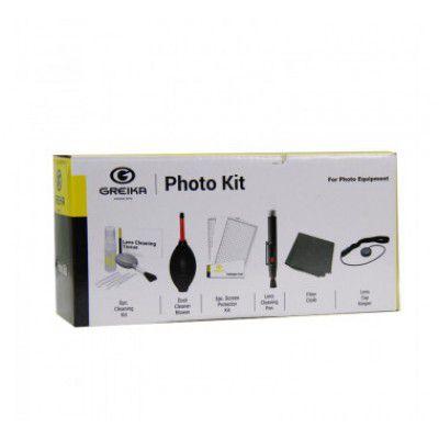 Kit de Limpeza Greika 8 em 1, ideal para limpeza de lentes de câmeras, telescópios e binóculos