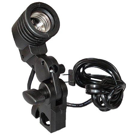 Suporte para iluminador e sombrinha com soquete para lâmpada LH-27SU
