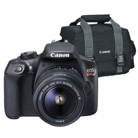Câmera Canon EOS Rebel T6 Kit com Lente Canon EF-S 18-55mm + Bolsa Canon 300DG