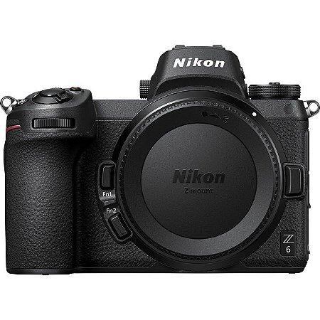 Câmera Nikon Z 6 Mirrorless Corpo com adaptador de encaixe FTZ Mount Adapter