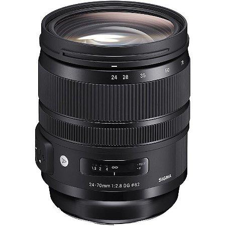 Lente Sigma 24-70mm f/2.8 DG OS HSM Art para Câmera Canon EOS