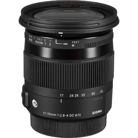 Lente Sigma 17-70mm f/2.8-4 DC Macro OS HSM para câmeras Nikon DX