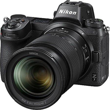 Câmera Nikon Z 7 Mirrorless Kit Lente Nikon NIKKOR Z 24-70mm f/4 S