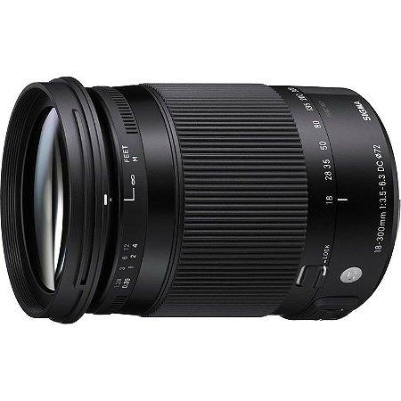 Lente Sigma 18-300mm f/3.5-6.3 DC MACRO OS HSM Contemporary para câmeras Canon EFS