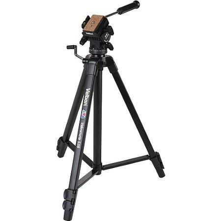 Tripé Velbon Videomate 538 com Cabeça Fluída para vídeo filmagem