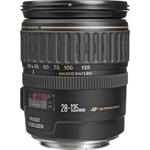 Lente Canon EF 28-135mm f/3.5-5.6 IS USM caixa branca