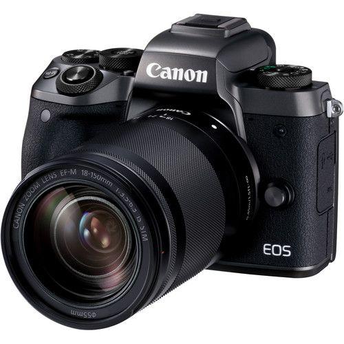Câmera Canon EOS M5 Mirrorless Kit com Lente Canon EF-M 18-150mm f/3.5-6.3 IS STM