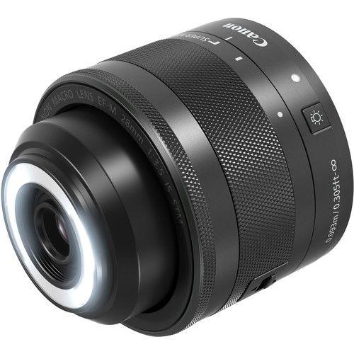 Lente Canon EF-M 28mm f/3.5 Macro IS STM com Parasol Canon ES-22