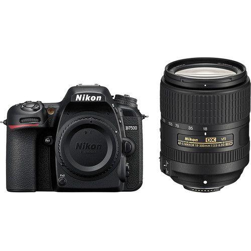 Câmera Nikon D7500 Kit com Lente Nikon AF-S DX NIKKOR 18-300mm f/3.5-6.3G ED VR