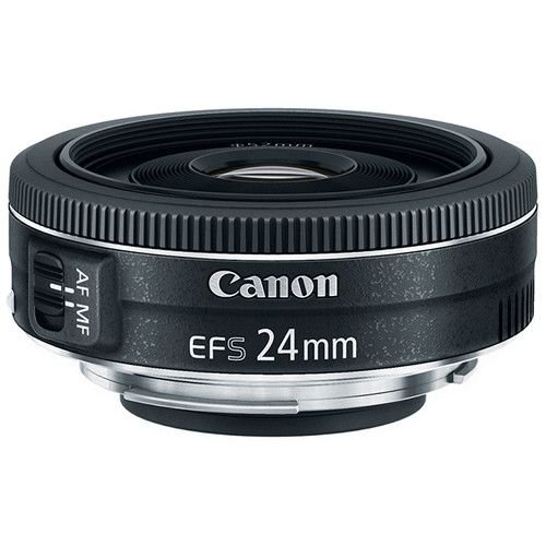 Lente Canon EF-S 24mm f/2.8 STM com Parasol Canon ES-52