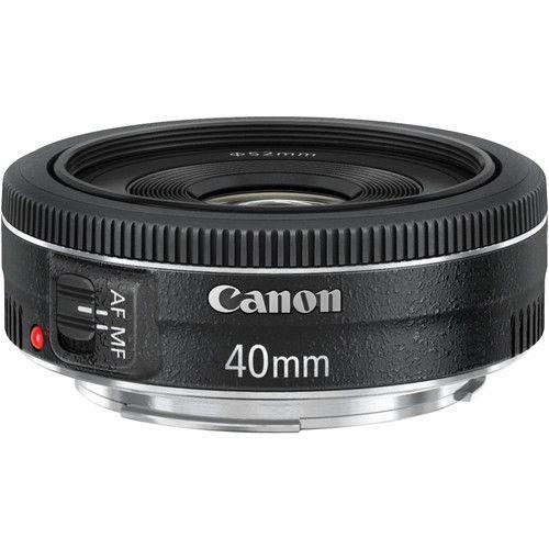 Lente Canon EF 40mm f/2.8 STM com Parasol Canon ES-52