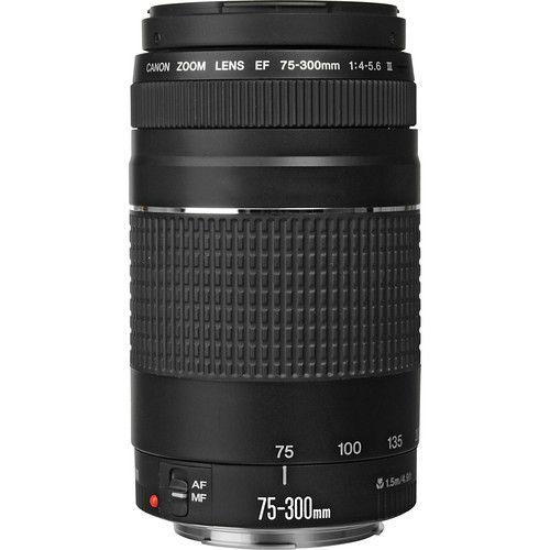 Lente Canon EF 75-300mm f/4-5.6 III + Parasol Canon ET-60
