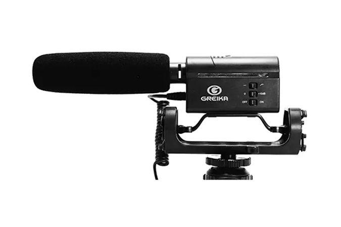 Microfone Direcional Greika GK-SM10 ideal para o uso com Câmeras DSLR e Filmadoras