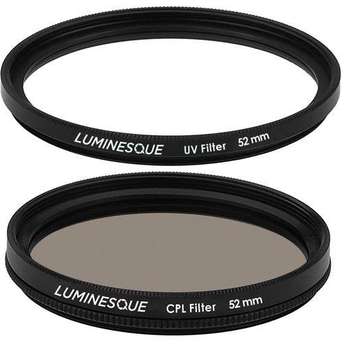 Kit de Filtros LUMINESQUE 52mm proteção UV Slim PRO + Polarizador Circular