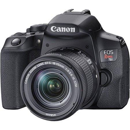 Câmera Canon EOS Rebel T8i Kit com Lente Canon EF-S 18-55mm f/4-5.6 IS STM
