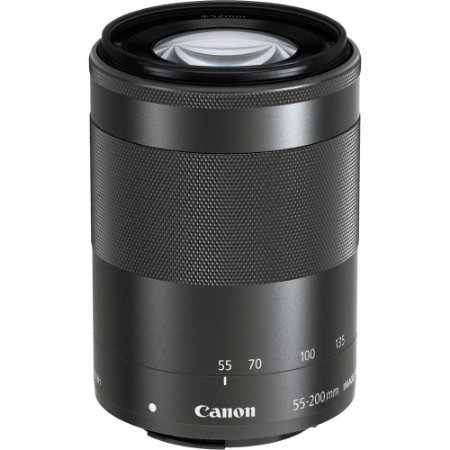 Lente Canon EF-M 55-200mm f/4.5-6.3 IS STM com Parasol Canon ET-54B