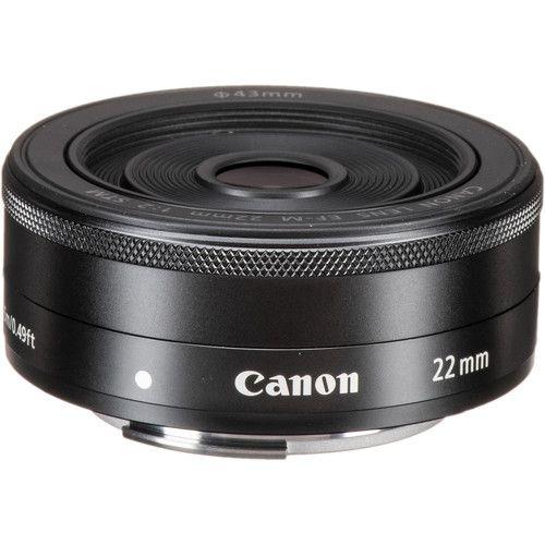 Lente Canon EF-M 22mm f/2 STM com Parasol Canon EW-43