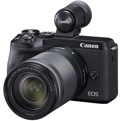 Câmera Canon EOS M6 Mark II Mirrorless Kit com Lente Canon EF-M 18-150mm f/3.5-6.3 IS STM