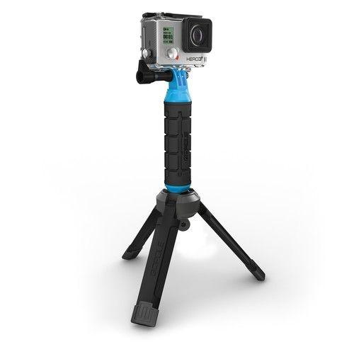 Tripé para câmeras GoPro HERO3 / HERO4 com Base Bi-Directional compacto dobrável GPBAS-15