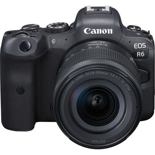 Câmera Canon EOS R6 Mirrorless Kit com Lente Canon RF 24-105mm f/4-7.1 IS STM