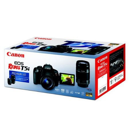 Câmera Canon EOS Rebel T5i PREMIUM KIT Lentes 18-55mm e 55-250mm IS II