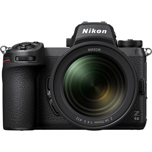 Câmera Nikon Z 6II Mirrorless Kit com Lente Nikon NIKKOR Z 24-70mm f/4 S + adaptador FTZ
