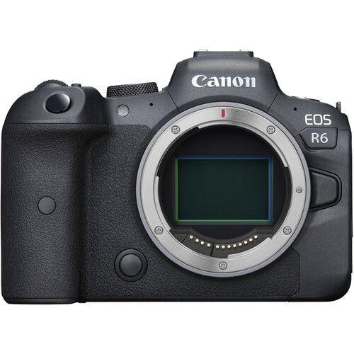 Câmera Canon EOS R6 Mirrorless Corpo com Adaptador Control Ring Mount EF-EOS R